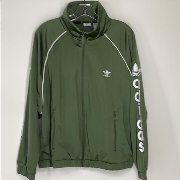 adidas Jackets & Blazers - Adidas trefoil green track jacket NWT medium